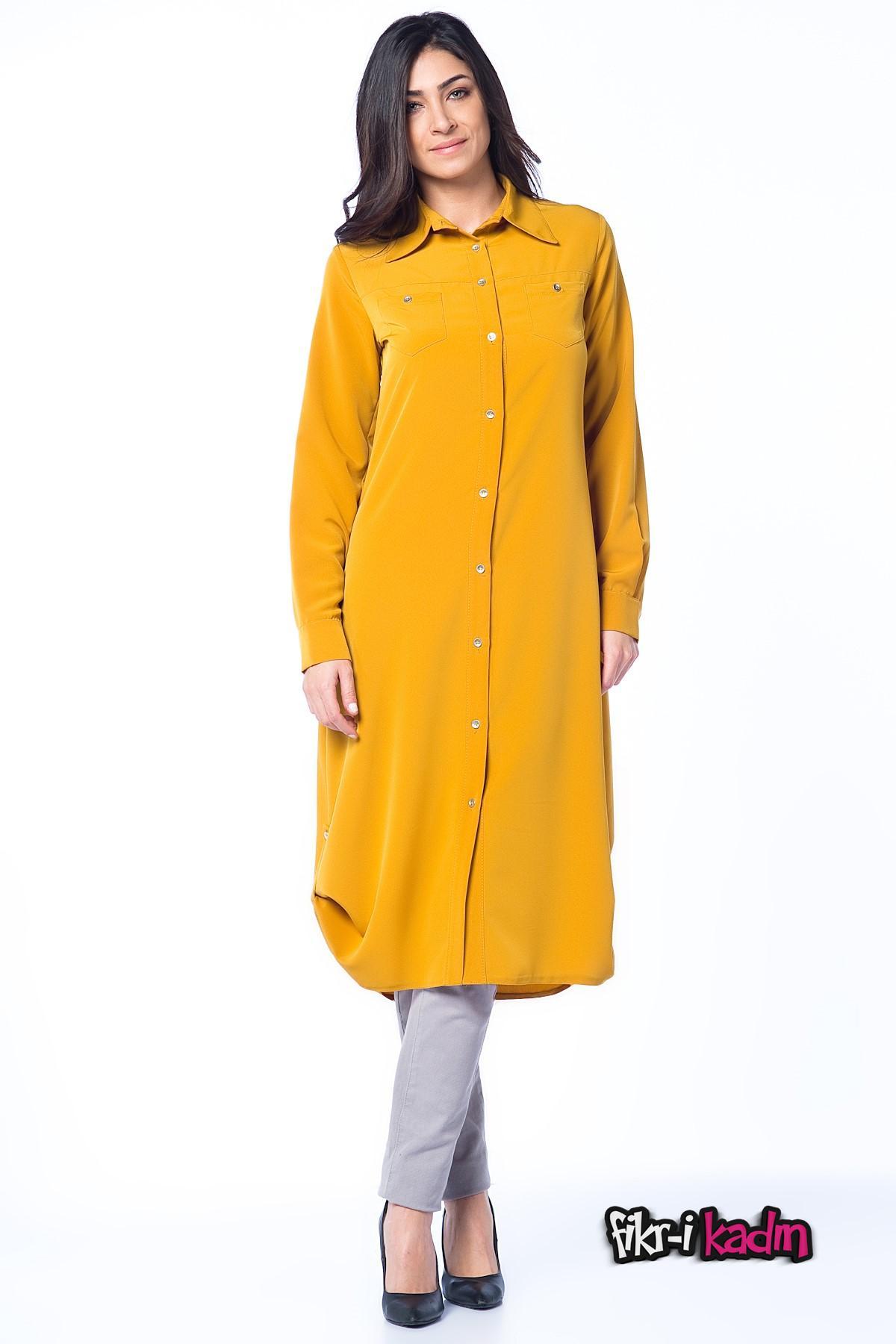 Hardal Renk Armine Tunik Modelleri
