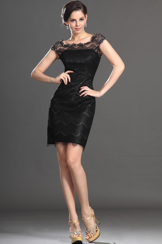 Mini Siyah Abiye Elbise Modelleri