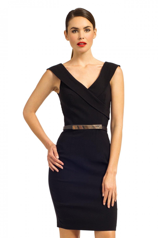 2015 Kemerli Siyah Elbise Modelleri