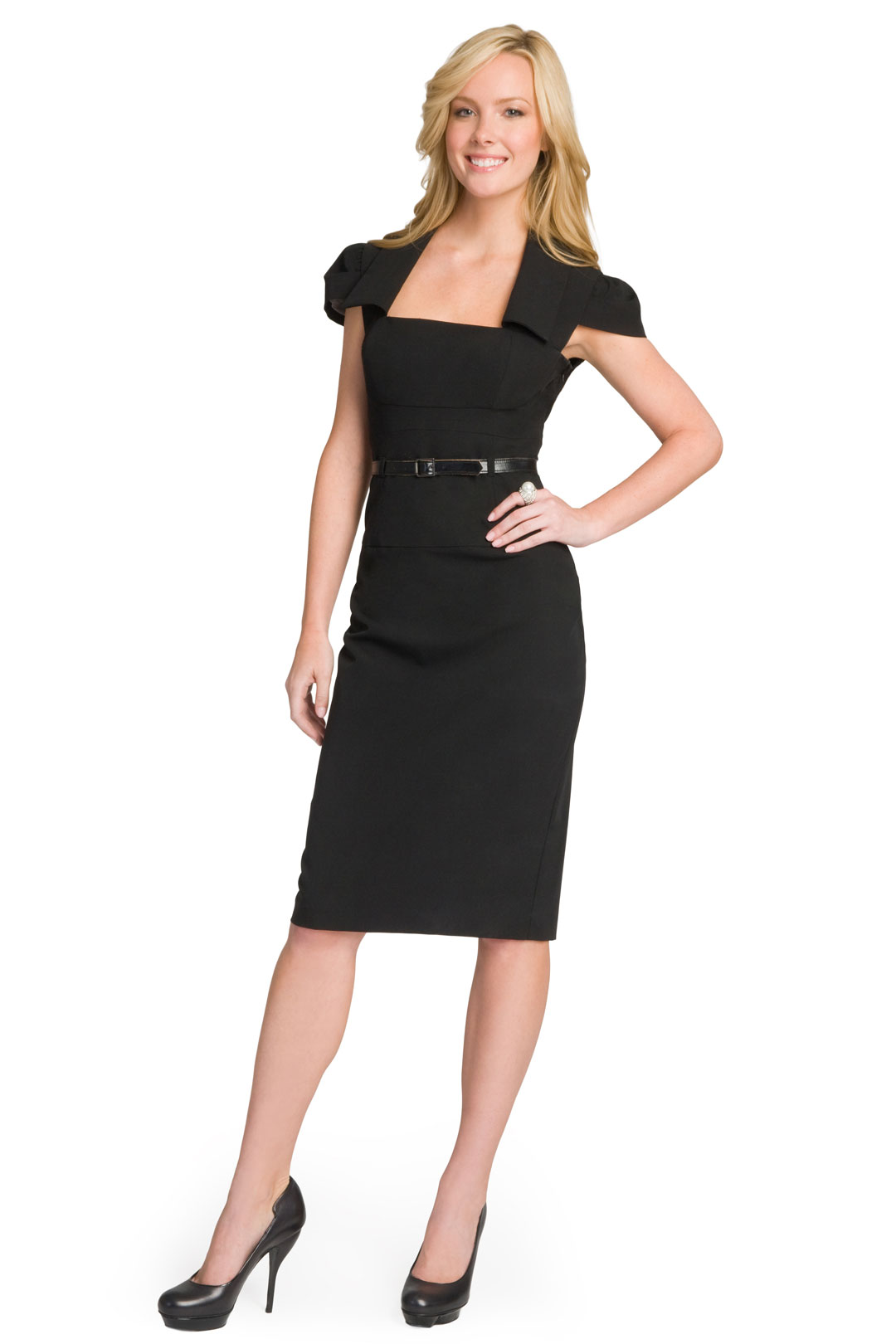 2015 Kemerli Siyah Elbiseler
