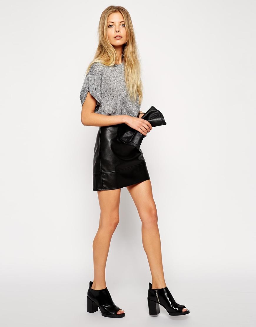 H&M Deri Mini Etekler 2015