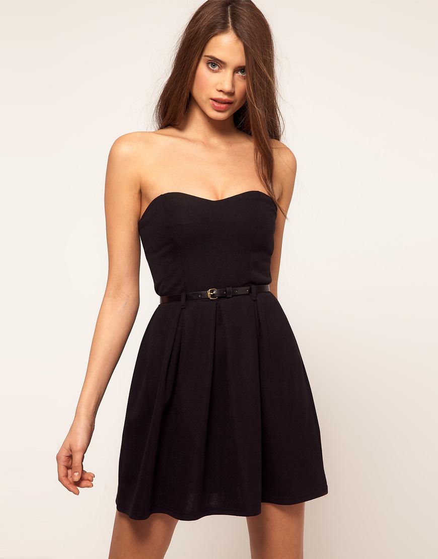 Kemerli 2015 Straplez Elbise Modelleri